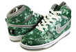 Emerald Splatter Sneakers