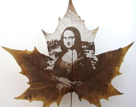 Carved Leaf Portraits