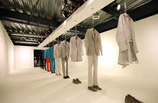 Ghostly Fashion Displays - The Calvin Klein + Los Angeles Nomadic Division (LAND) Event