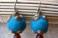 Southern Dutch Girl's Twirly Teal Earrings Give You a Pop of Color