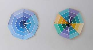 Color Swatch Clocks