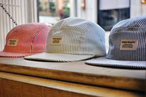 The Sweetly Striped Norse Projects Seersucker 5 Panel Cap