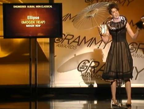 Twitter Dresses - The Imogen Heap Grammy Awards 'Twitdress' is Geekalicious