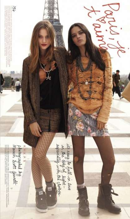 Shredded Sweaters - Nylon Magazine February 2010 'Paris, Je Te Aime' Is Edgy