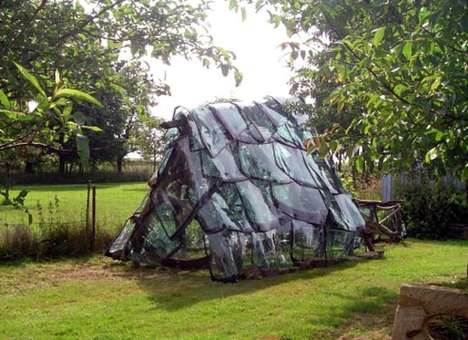 Reused Windshield Greenhouses