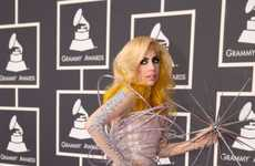 Wacky Galaxy Gowns - Lady Gaga's 2010 Grammy Fashion Was Crazy as Ever