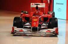Fiery Formula 1 Cars