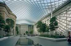 Glass Grid Canopies - The Smithsonian's Kogod Courtyard Wins Tucker Design Award