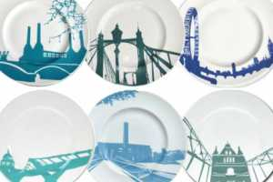 Snowden Flood Creates Chic Skyline-Inspired Plates
