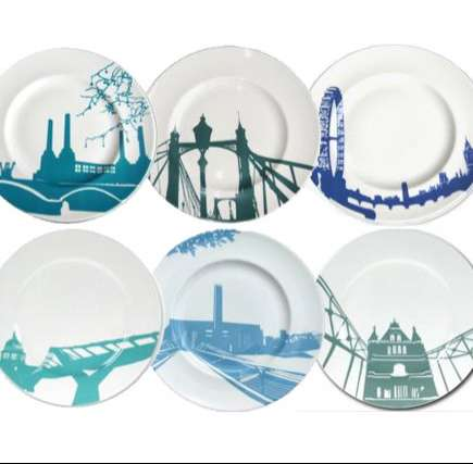 Cityscape Dinnerware - Snowden Flood Creates Chic Skyline-Inspired Plates