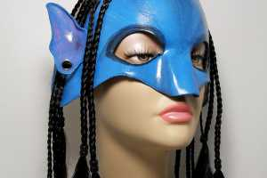 FantasiesInLeather Na'vi Omaticaya Leather Mask Lets You Pretend You're in Pandora
