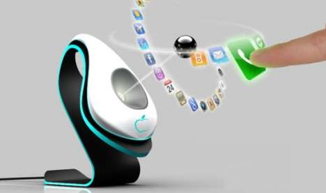 Holographic Mobiles - The Black Hole Concept Phone for 2020 Has a Levitating Mouse Ball