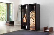 The Conmoto 'Gate' Fireplace is Perfect for Contemporary Homes