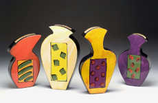 Whimsical Wall Vases - Colorful, Handpainted Ceramic Art by Diana Crain