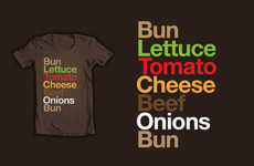 Burgervetica is a Typographic Cheeseburger