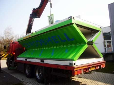 Collapsible Shipping Containers - Cargoshell Containers Fold to a Quarter the Size