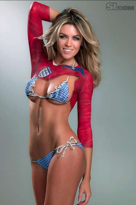 SI Swimsuit 2010 body paint