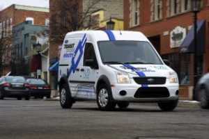 The Ford 2011 Transit Connect Electric Van