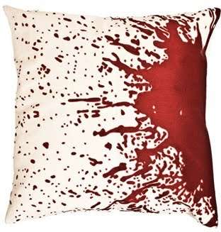 Crime Scene Cushions - Cuddle Up to Splattered Blood With the Forensic Pillows