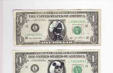 Craig Gleason Shows off the Many Sides of Lady Gaga on Dollar Bills