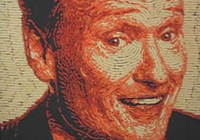 The Conan O'Brien Cheetos Portrait is a Feast for the Eyes