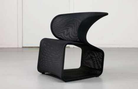 Samurai-Helmet Seating - The Fly Chair by Patrick Norguet for OFFECCT