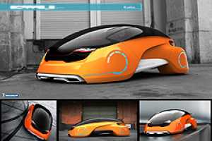 The Solar Electric ScarabE Car by Goran Marinkovic