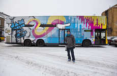 Trippy Tour Buses - The Maxime Archambault Jam Berlin Bus is Like Acid on Wheels