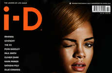 Come-Hither Wink Covers - Rihanna for i-D Magazine is One of Three Awesome Cover Shots
