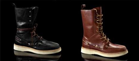 Rugged Naval Boots - The Vael Deckard Boot Features Comfortable, Supple Leather