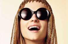 Glam Gilt Glasses - The Sun Gods 2010 Eyewear Collection by Karen Walker