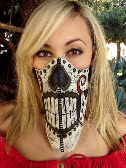 day of dead masks designs. Day of the Dead Biker Gear