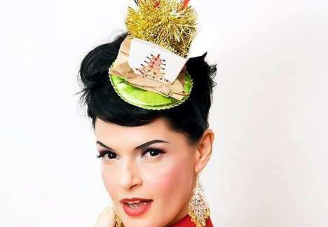Take-Out Box Fascinators - The Chop Suey Palace Hat by Topsy Turvy Design is Delicious