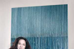 Felicity Nove Pours Paintings on Sustainably Farmed Wood Panels