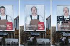 Aging Billboards - 'Get a Career You'll Never Want to Leave' Outdoor Ad Campaign