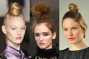 Hair Piled Sky-High Takes Centre Stage At New York Fashion Week