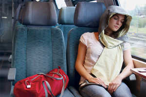 The NapCap Hoodie Makes Resting In Transit Easy and Comfortable