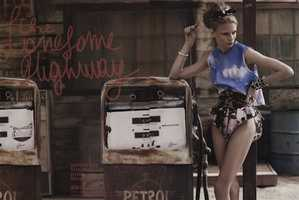 Vogue Nippon Shows High Fashion in 'The Lonesome Highway'