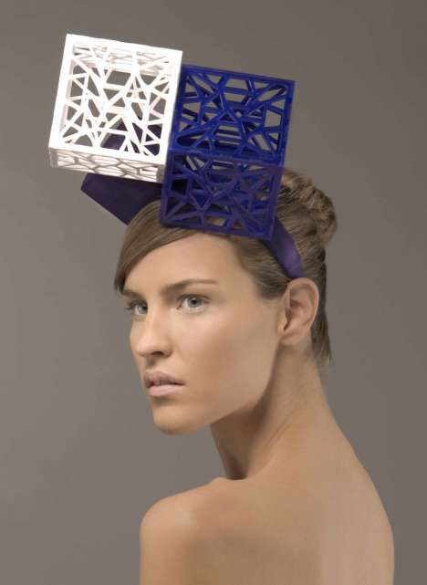 Cubist Headpieces - Michelle Czech Creates Gaga-esque Headwear