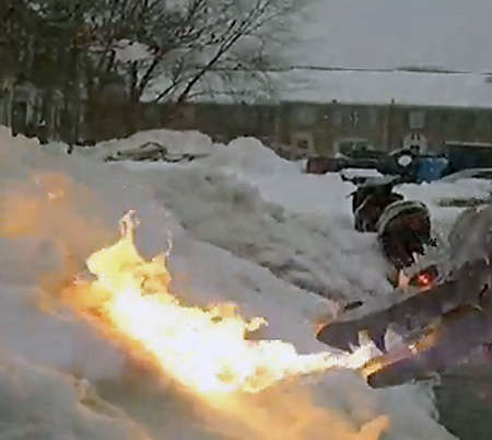 Fire-Breathing Snow Blower