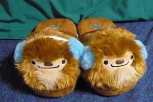 The 2010 Vancouver Olympic Mascot Quatchi Keeps Your Feet Warm