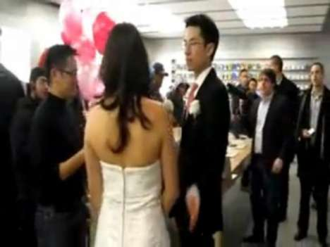 Apple Store wedding