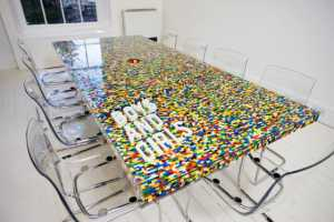 The LEGO Boardroom Table Brings Fun into the Office