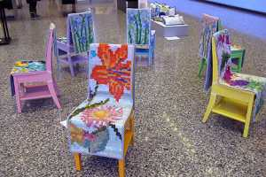 MADE's Grant Heaps Makes Garden Chairs Inspired by Needlework