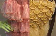 Upcycling Expired Contraceptives - Fashion Designing Student Creates Condom Couture