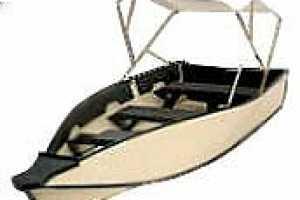 Fold-Up Porta-Bote Folds Flat for Transportation, Sets Up Easily