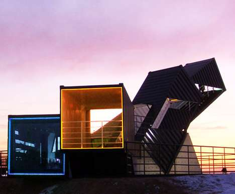 Steel Box Architecture - OceanScope Observatory is Made of Recycled Shipping Containers