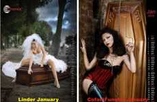Controversial Casket Calendars - European Rivals Duel Over Promo Calendars of Coffins and Women