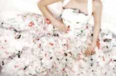 Garbage Wedding Gowns - The Plastic Bag Wedding Dress by Amorphose