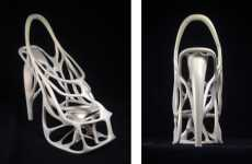Skeletal Stilettos - The Melonia Shoe by Naim Josefi and Souzan Youssouf